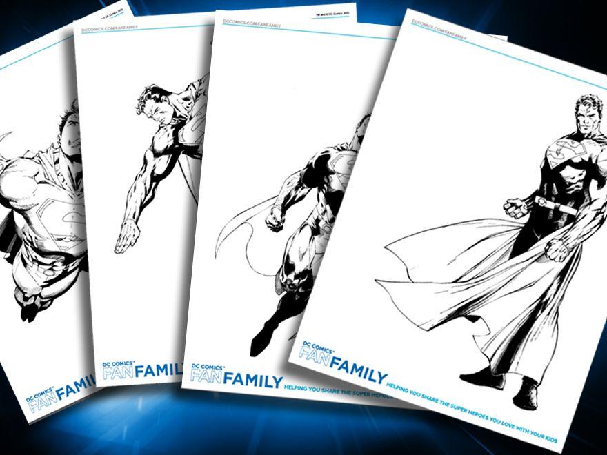 Themed Printables Superman Superhero Coloring Pages Superhero Coloring Dc Villains