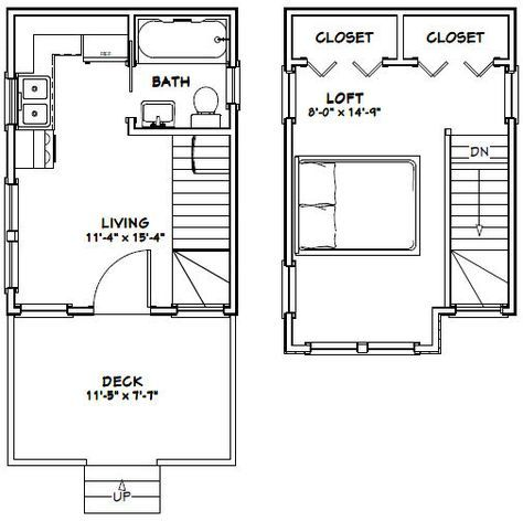 12X16 Tiny House -- #12X16H6 -- 367 Sq Ft - Excellent Floor Plans