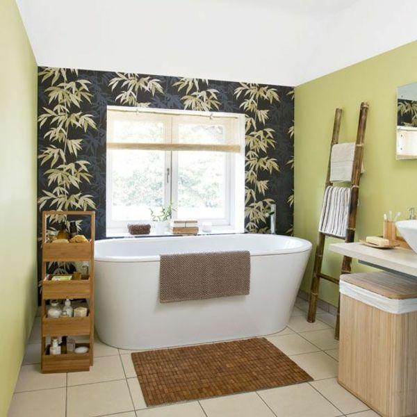 Exceptionnel Badezimmer Badematte Design Bambus Badewanne Regal Schöne Wandgestaltung