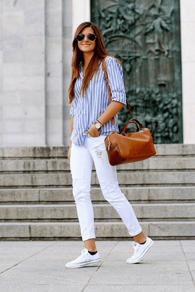 De Blancas Uso ¡pura Tendencia Looks Las Zapatillas Manual dgzq5WaTwd
