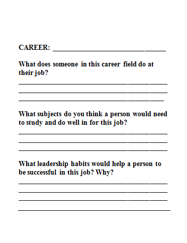 """My First Resume Template The Creative Counselor """"paws"""" For Career Exploration  Vocational"""