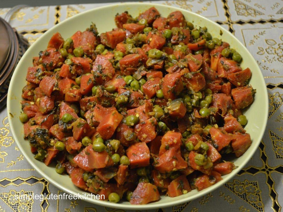 Carrots, Fenugreek and Peas Stir-Fry (simple gluten free kitchen) -- calls for fenugreek seeds and garam masala