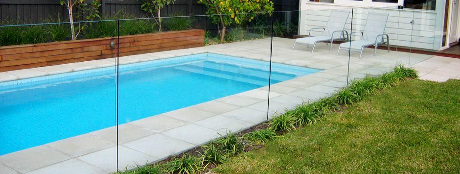 Glass Pool Fence frameless glass pool fence concrete channel | backyard | pinterest