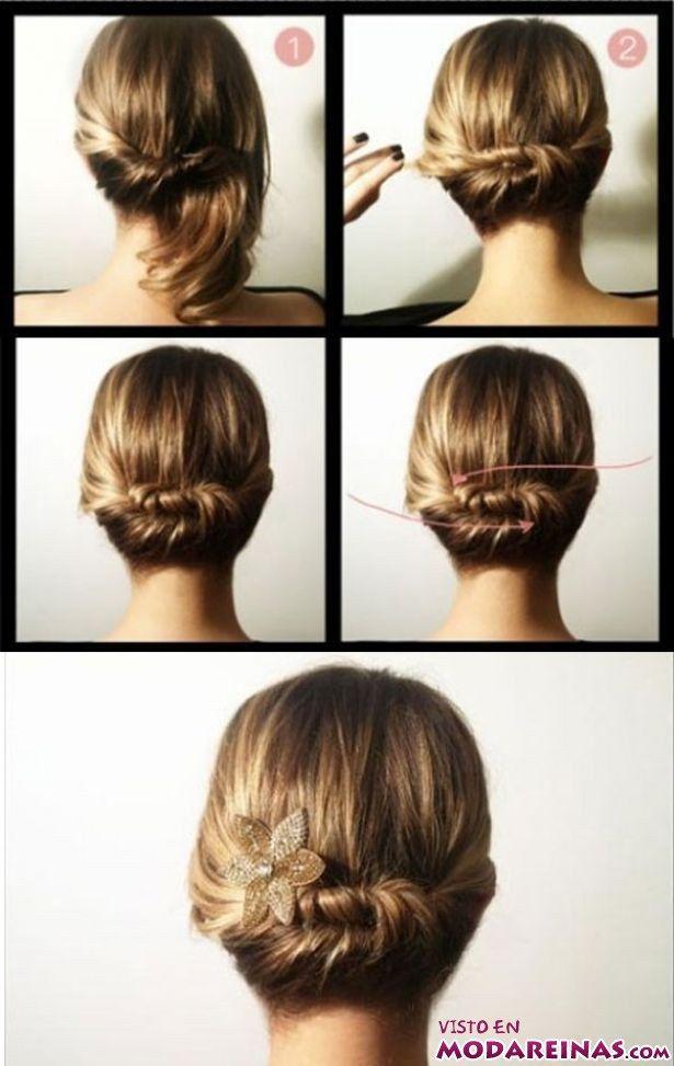 Recogido bajo paso a paso peinados paso a paso - Ver peinados de fiesta paso a paso ...