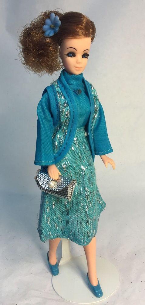 Vintage Topper Dawn Doll Majorette Connie On Dawn Body In Triki Miki Opera Date