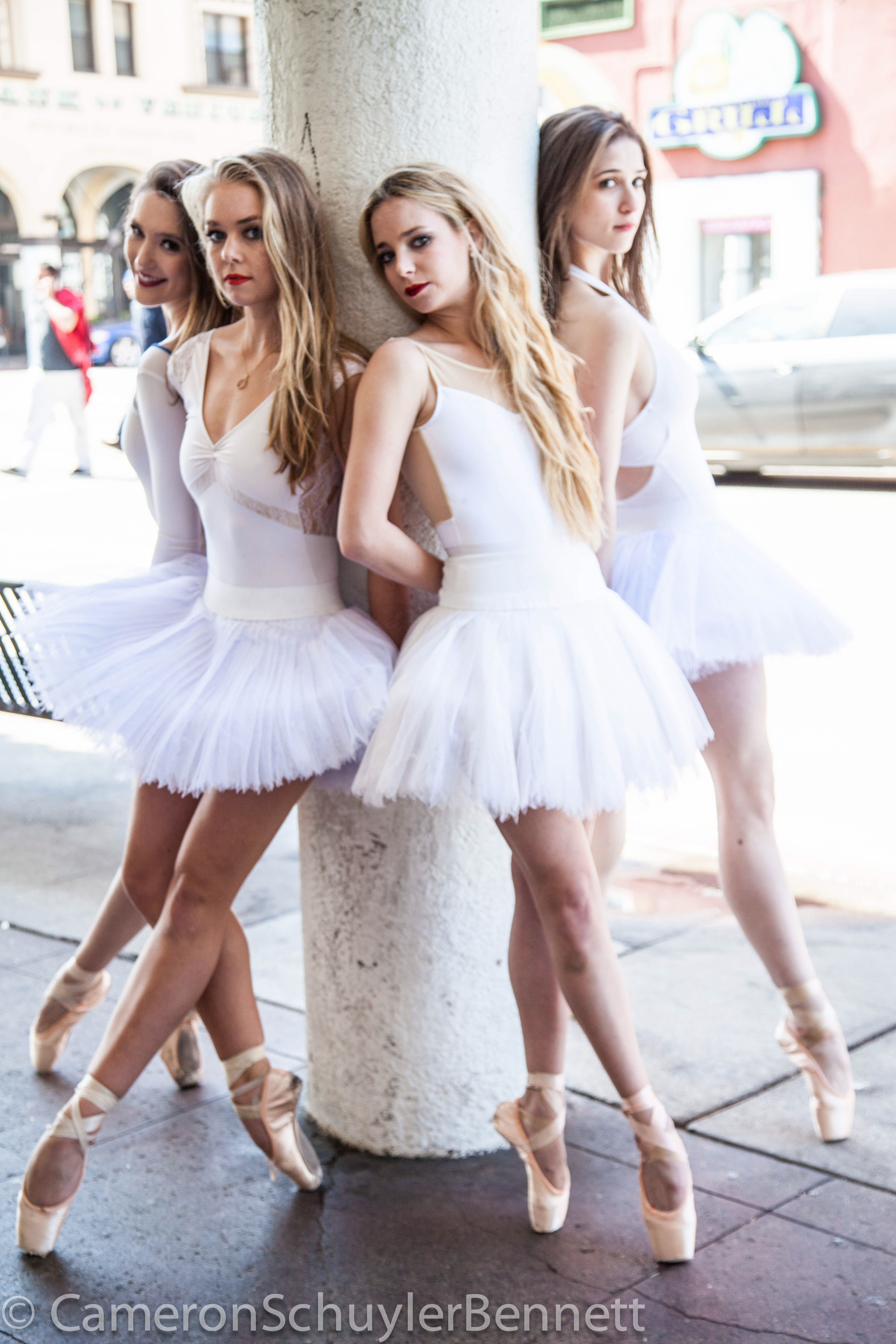 Los Angeles Ballet Dancers Allyssa Bross Bianca Bulle Chloe Sherman And Dina Bilofsky Dance Fashion Ballet Poses Dance Outfits