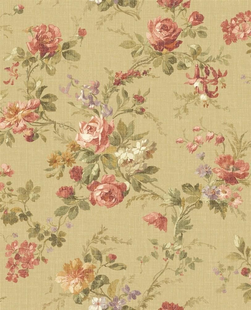 Wallpaper Designer French Country Cottage Floral Roses And Wisteria Floral Wallpaper Bedroom Vintage Floral Wallpapers Country Cottage Decor