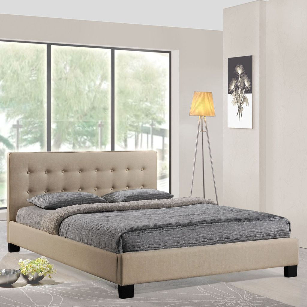 Minimalist lines blend with dual rows of carefully tufted