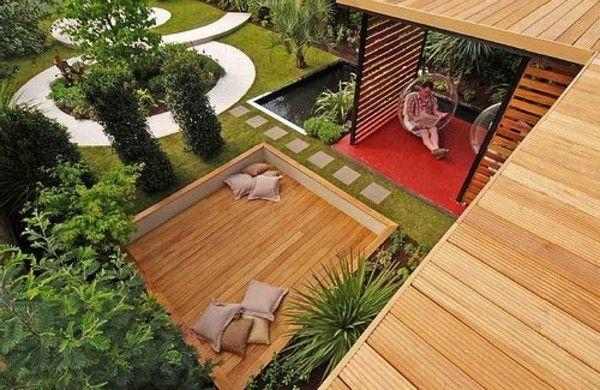 Moderne Gartengestaltung Beispiele Holz Pergola | Terrasse