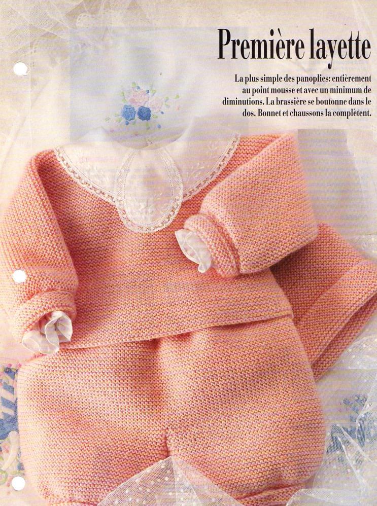 3220cee41b99f Toute une panoplie à tricoter pour bébé   Tailles   3 - 6 - 9 mois  Aiguilles N° 2