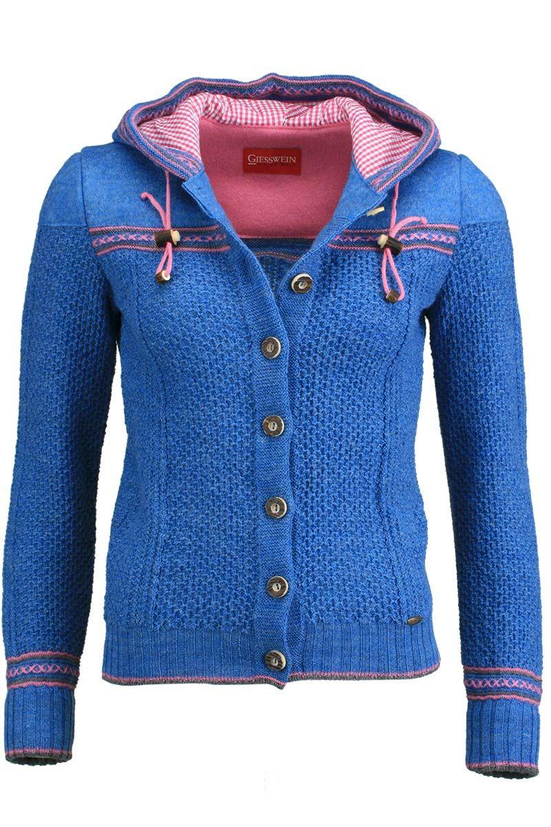 Top Strickjacke mit Kapuze blau 'Gretel' | Stricken | Pinterest &TW_96