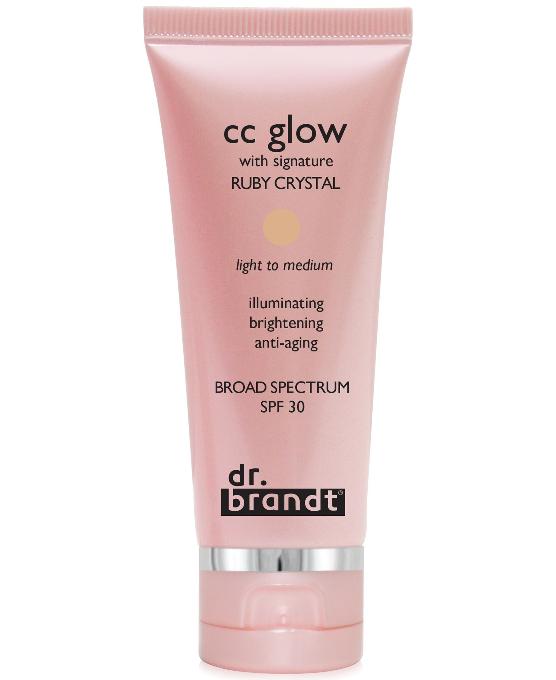 dr  brandt Cc glow with signature Ruby Crystal, 1 oz | MAKEUP