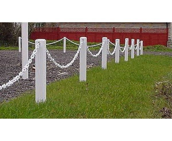Plastic Post And Chain Fencing UPVC Driveway /& Garden Fence Posts /& Chain G