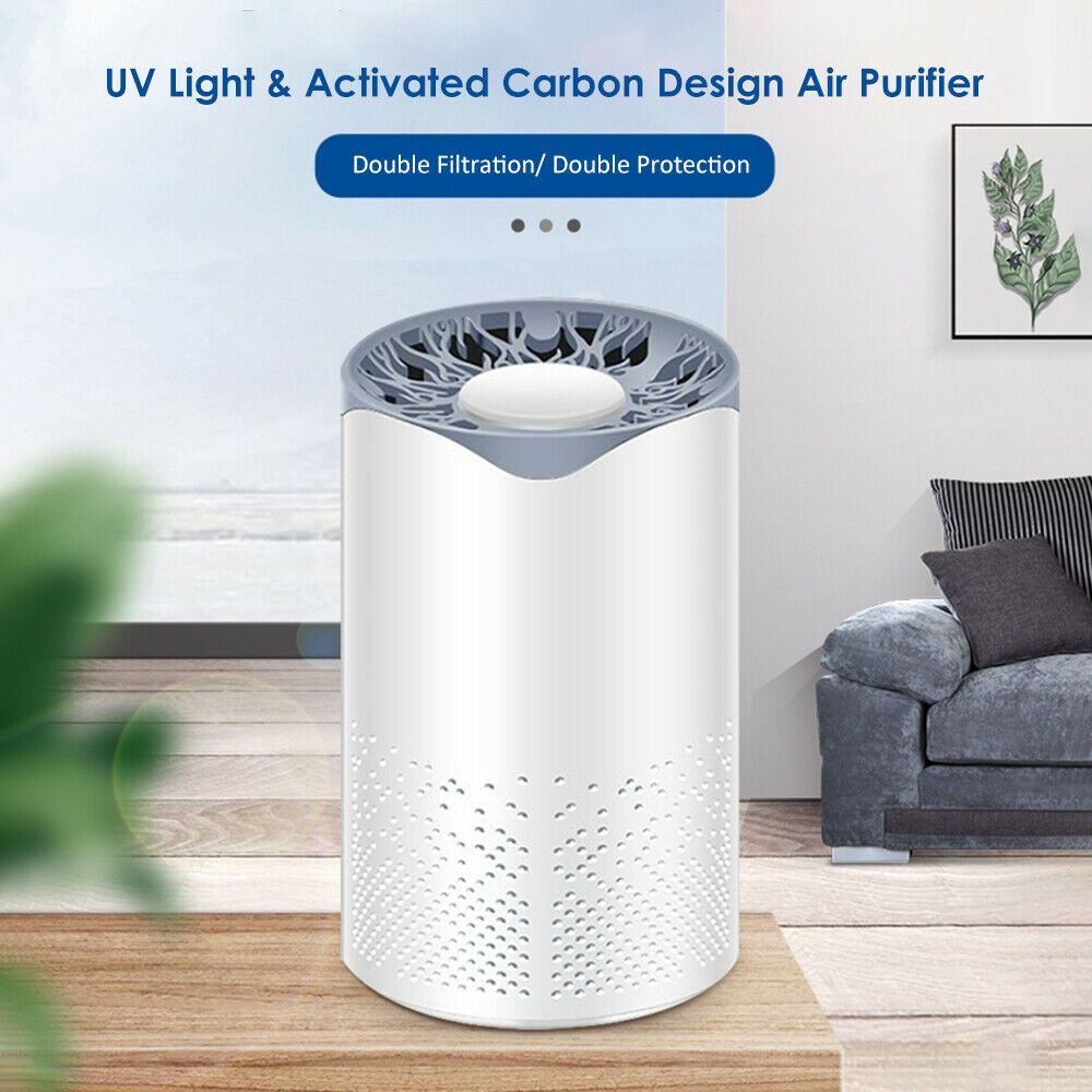 Ultraviolet Light Air Purifier Activated Carbon Filter USB