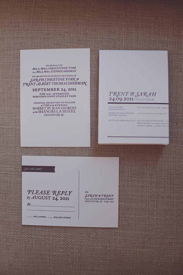 Modern wedding stationery from PhloDesign.com | pure | Pinterest ...