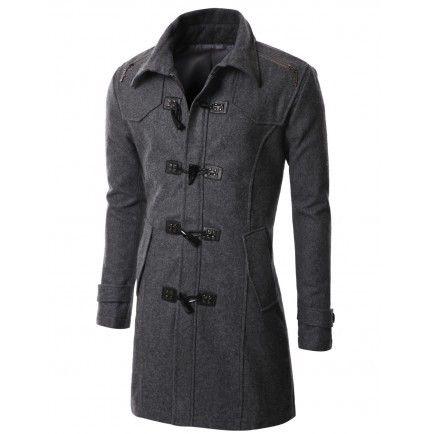 bbadf5c7 Abrigo Montgomery Gris | ropa masculina | Ropa, Abrigos y Ropa masculina