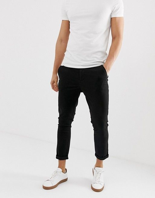 2fc7f84aa6012e DESIGN super skinny cropped chinos in black in 2019 | Clothes ...