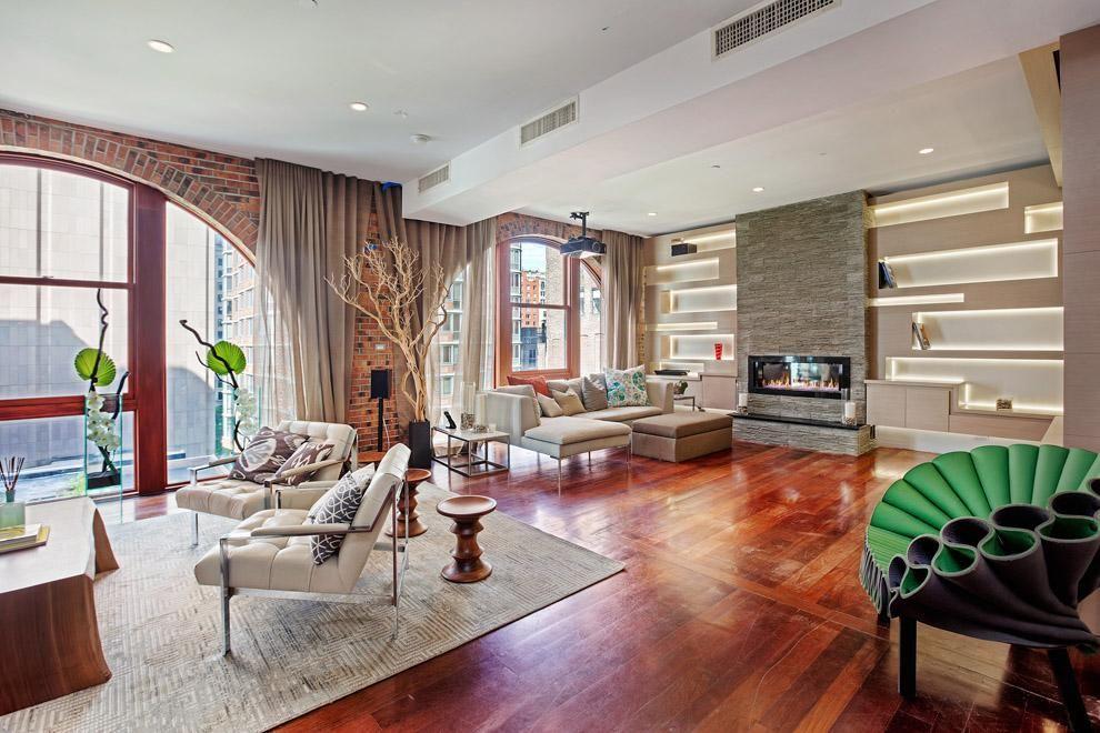 Apartment Design New York Spectacular Tribeca Loft Combining Two