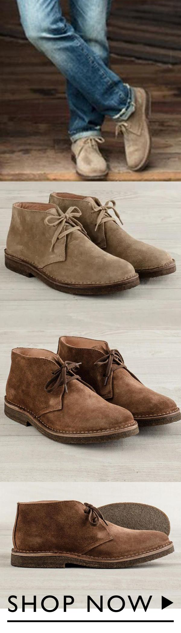 Comfortable Suede Boots   Mens