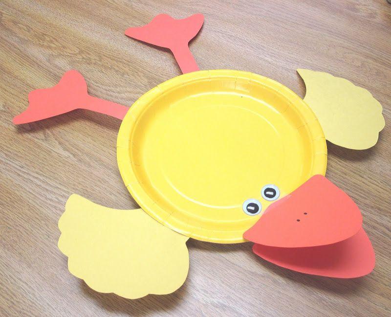 Paper plate duck - use for snack time! & Manualidades con platos - Naikari Naika - Webové albumy programu ...