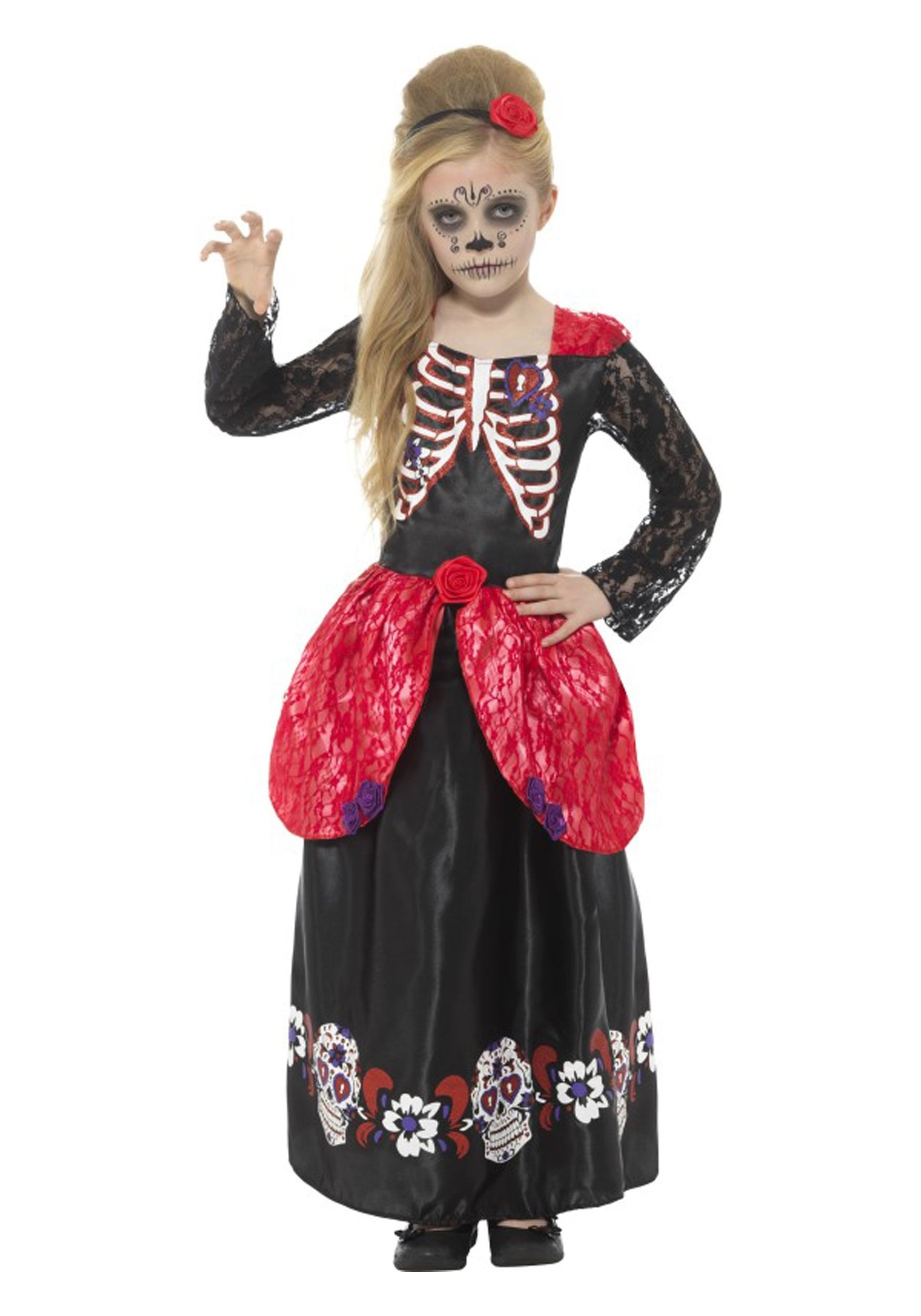 Image Result For Sugar Skull Halloween Costumes For 9 Year Old Girl