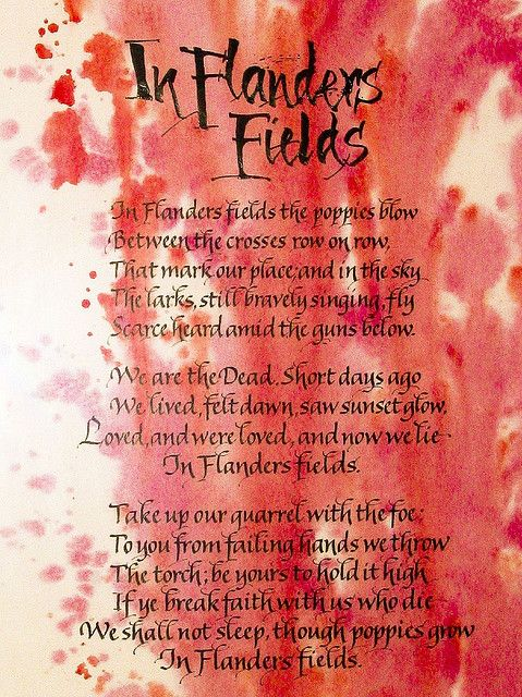 In Flanders Fields is one of the most famous poems about World War ...