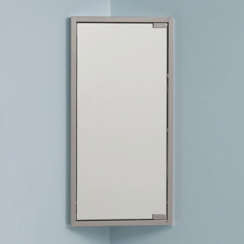 Kugler Stainless Steel Corner Medicine Cabinet with Mirror | STIR ...