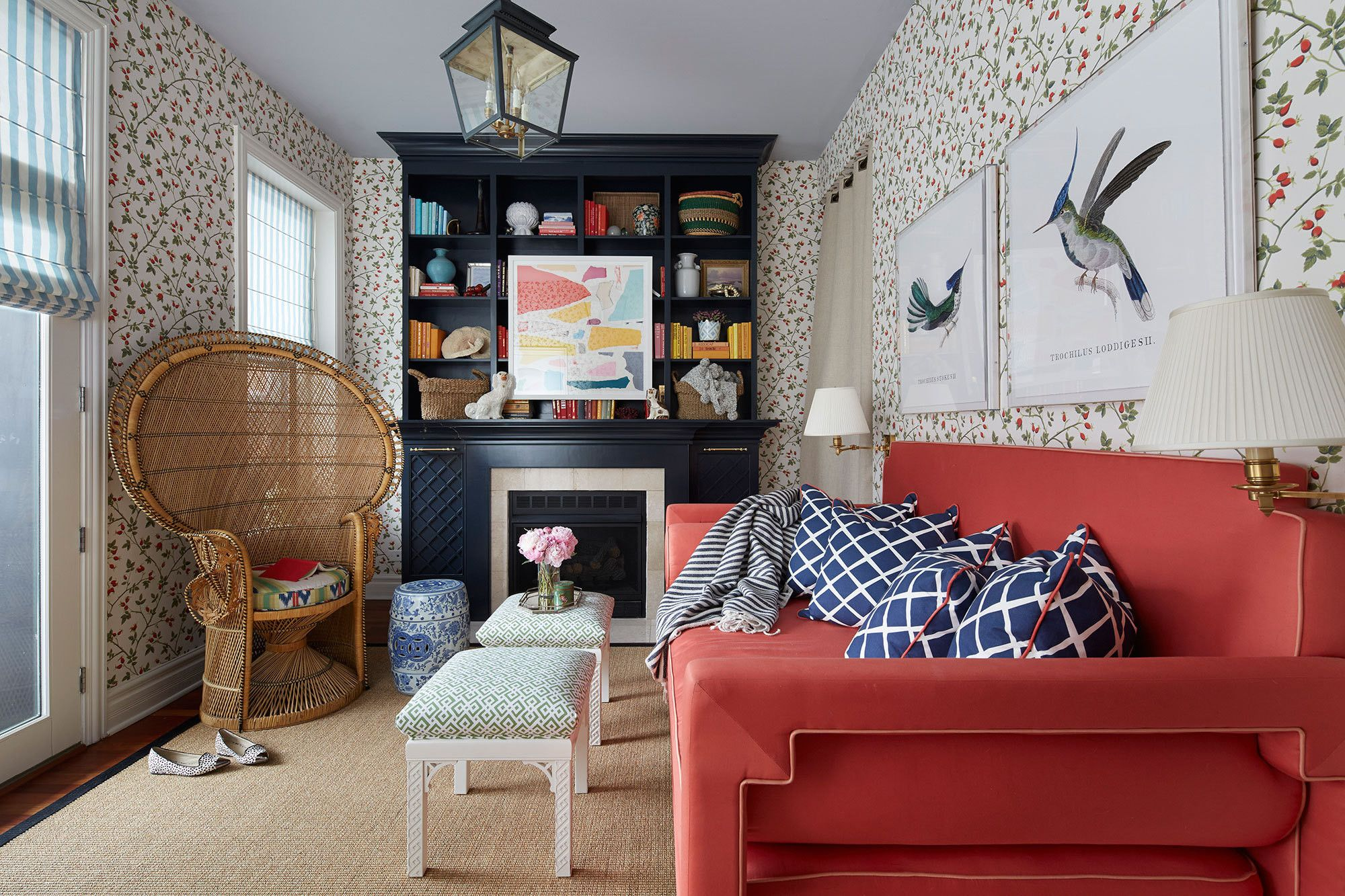 A colorful neo trad apartment in chicago living room - Top interior design firms chicago ...