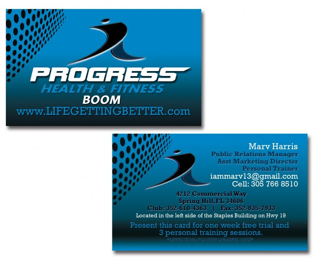Public Relations Gym / Fitness Business Cards | Business Cards ...