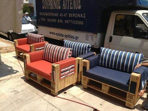 sillones hechos con palets sala tv muebles muebles On sillones hechos con tarimas