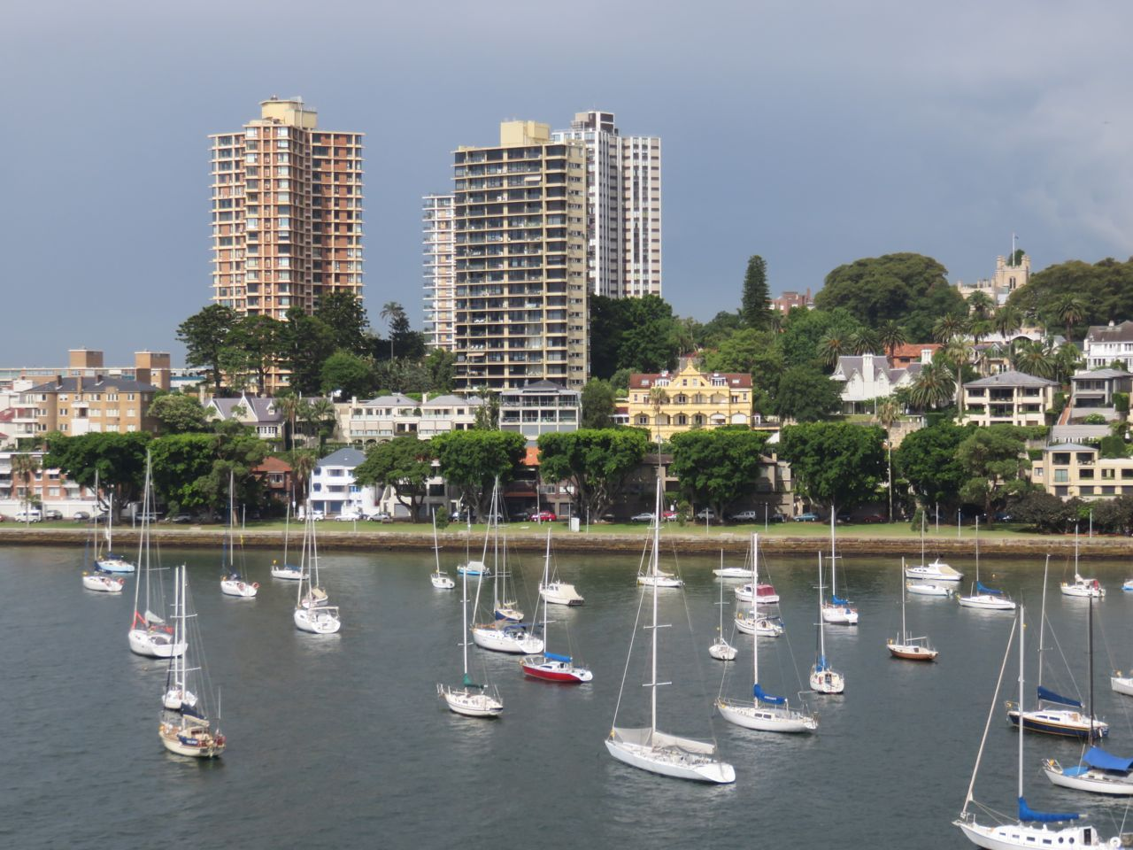 From Elizabeth Bay looking over the entrance to Rushcutter's Bay to Darling Point