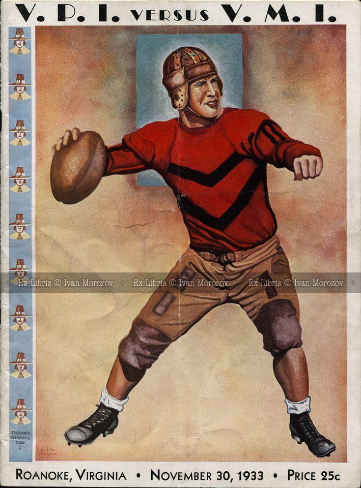 1933.11.30. Virginia Tech vs VMI. Hokies Football
