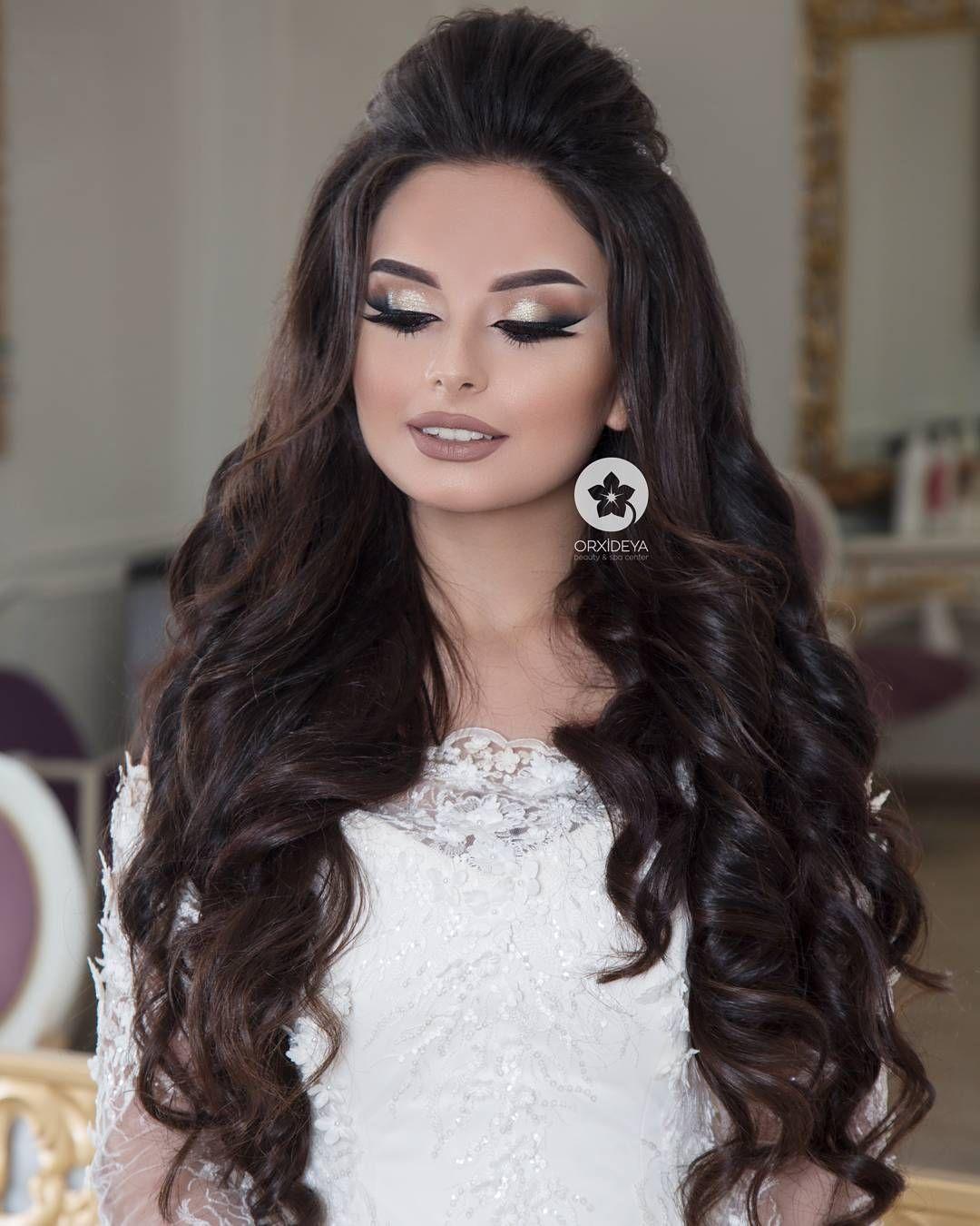 2 359 Likes 16 Comments Gelin Sac Makiyaj Wedding Orxideyabeauty Vip On Instagram Sac Gunay Vizaj S Hair Styles Elegant Wedding Hair Long Hair Styles