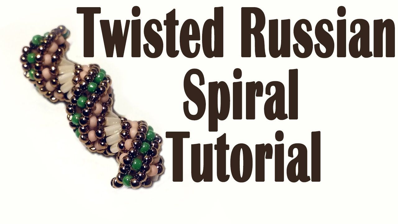 Video: How to do a Twisted Russian Spiral. #Seed #Bead #Tutorials