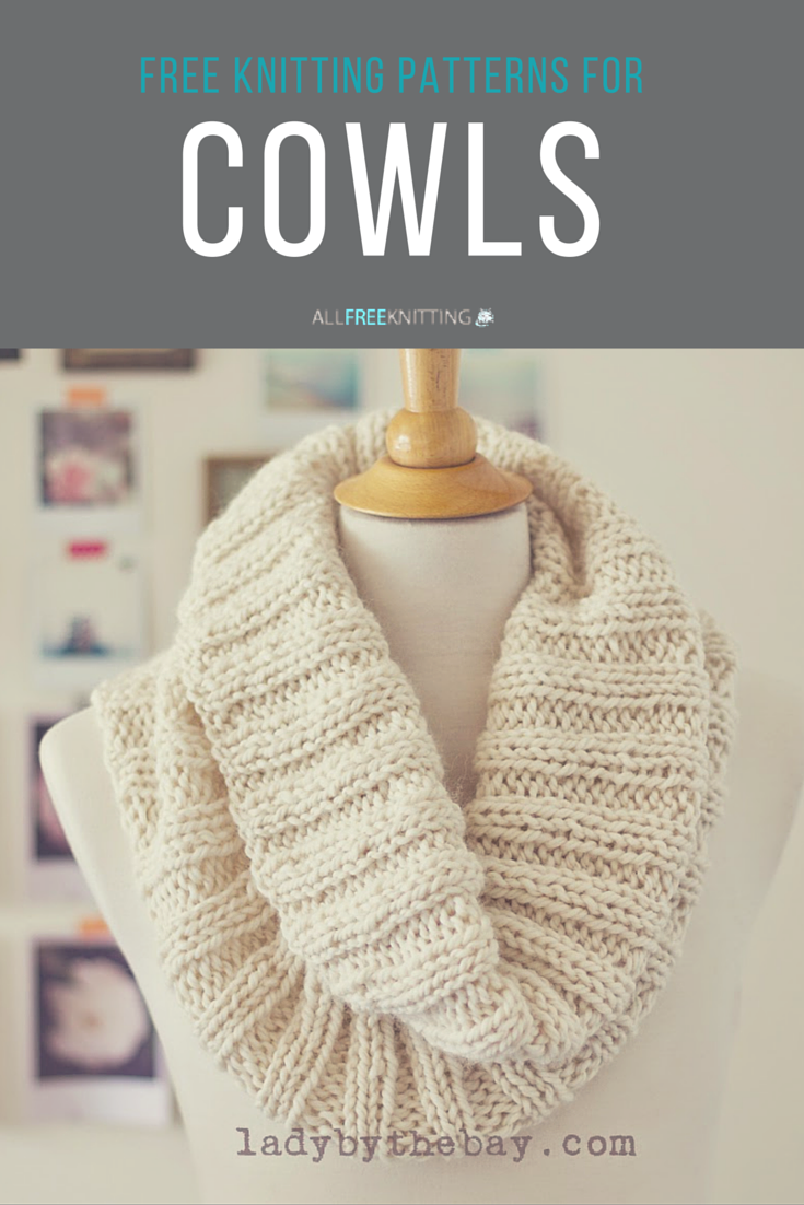 Free knit cowl patterns - omg! | Knitting Patterns | Pinterest ...