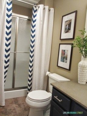 No Sew Shower Curtain From Life On Virginia Street Sewing