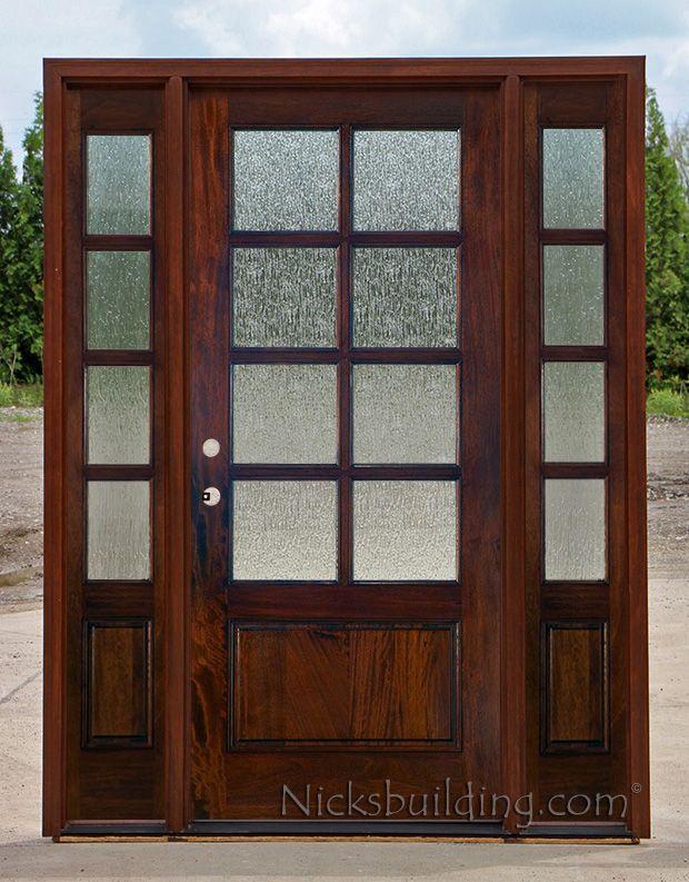 French door exterior french door with rain glass - Exterior french doors with sidelights ...