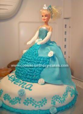 Cool Homemade Cinderella Birthday Cake Birthday cakes Homemade