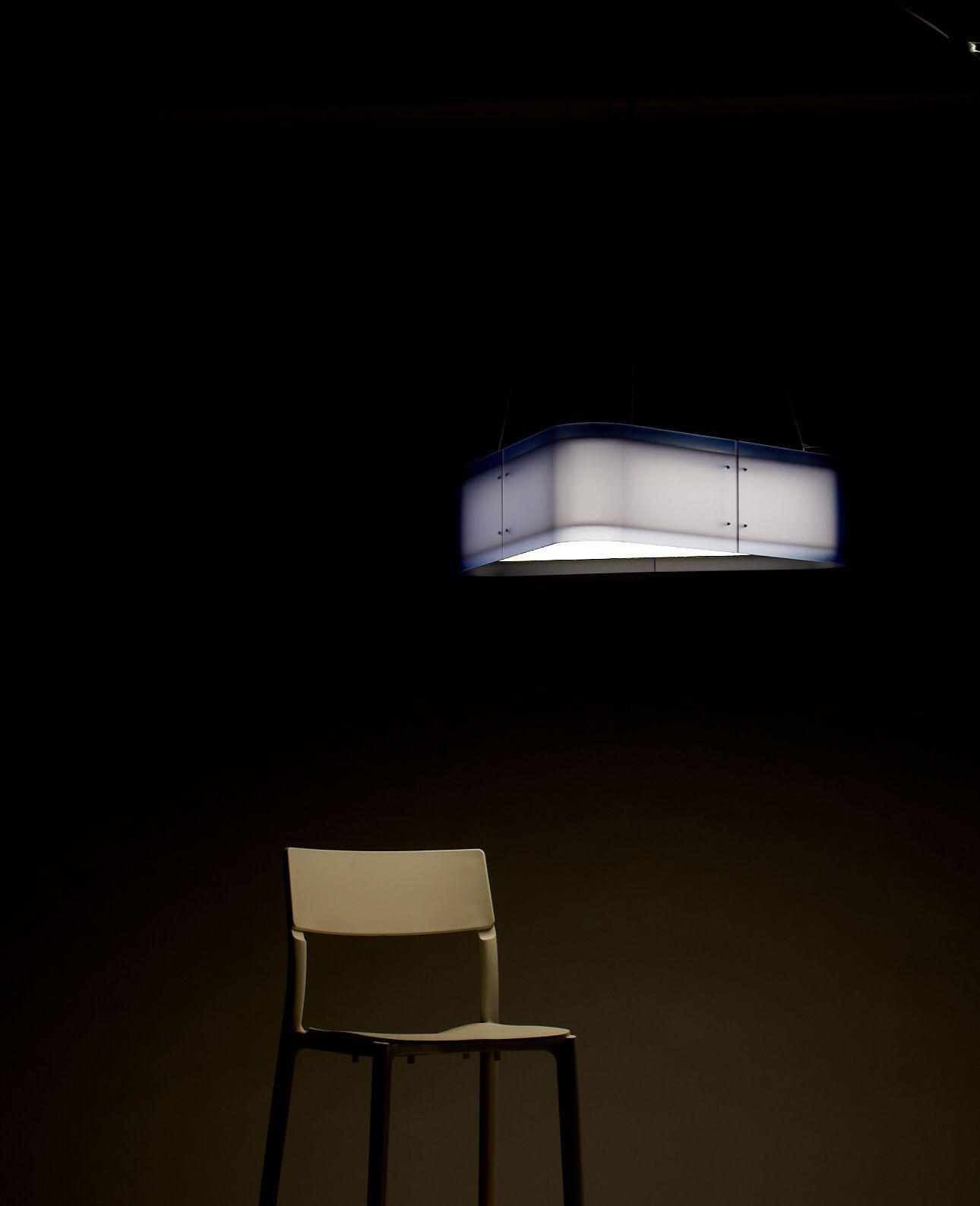 Custom lighting handmade in seattle made from 3form varia ecoresin