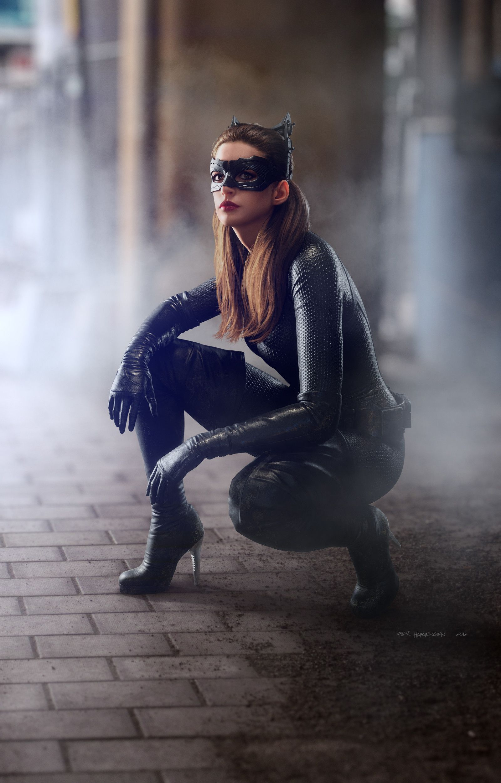 Batman Catwoman Bane Artwork For Christopher Nolan S The Dark
