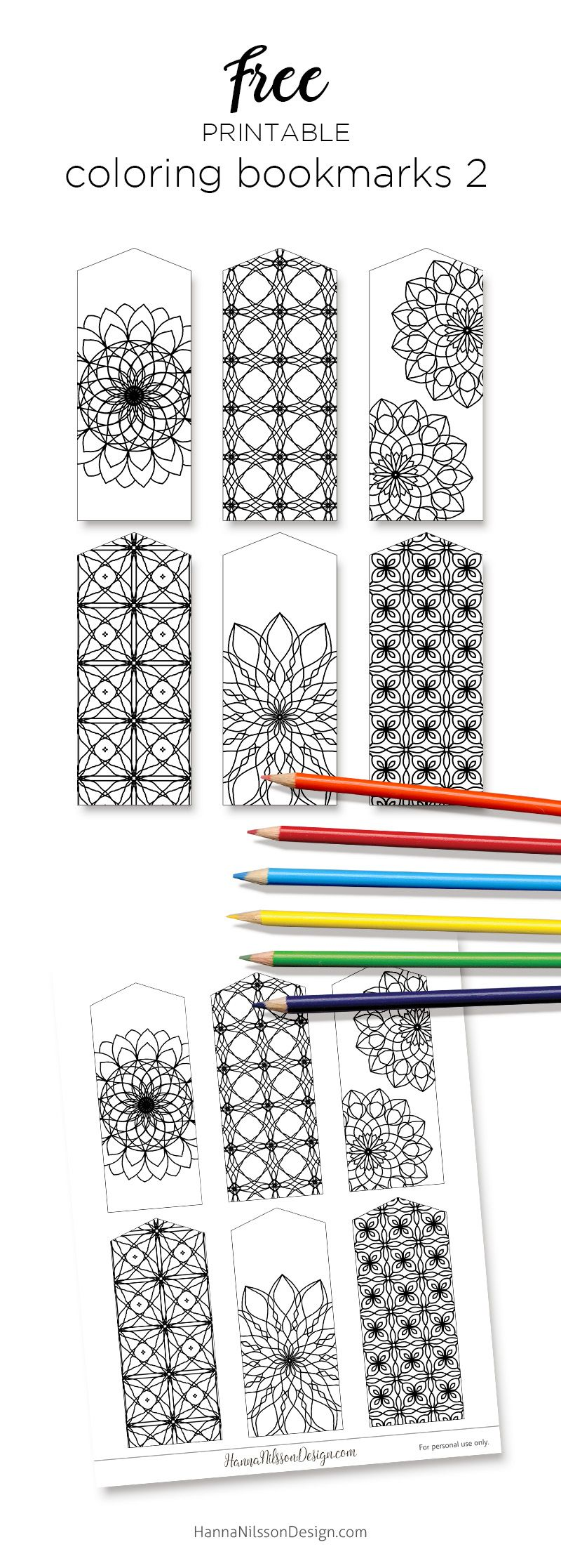 free printable coloring bookmarks 2 from m hanna nilsson design subscription required - Printing Coloring Pictures 2