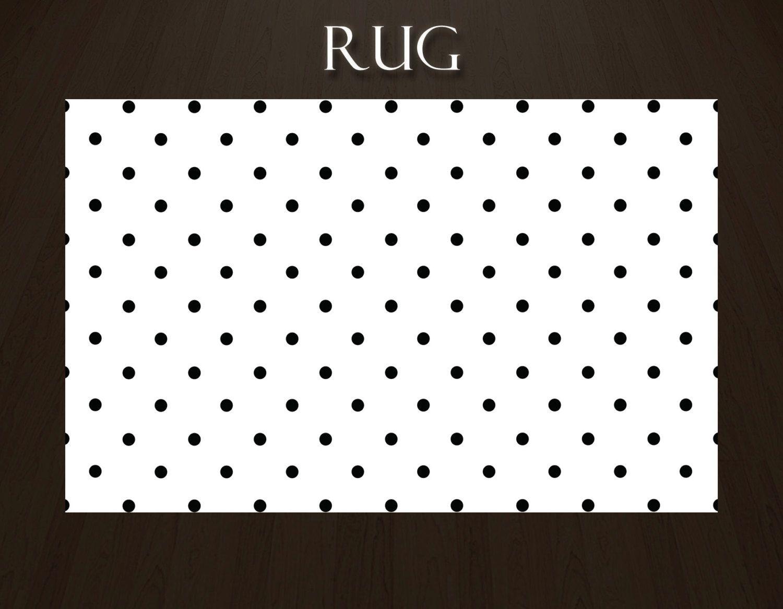 Poka Dot Area Rugs Black And White