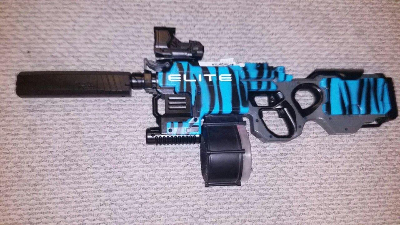 my custom nerf hyperfire rifles pinterest selber. Black Bedroom Furniture Sets. Home Design Ideas