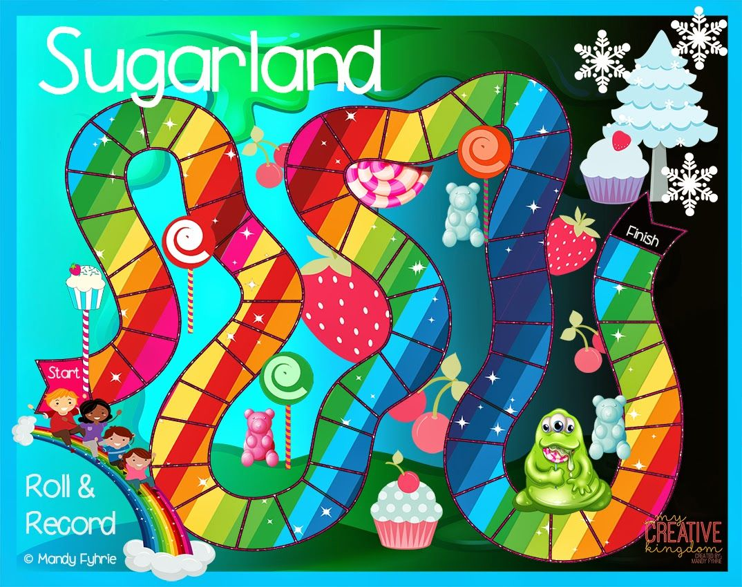 Sugarland Board Game Printable FREEBIE! Super fun K6