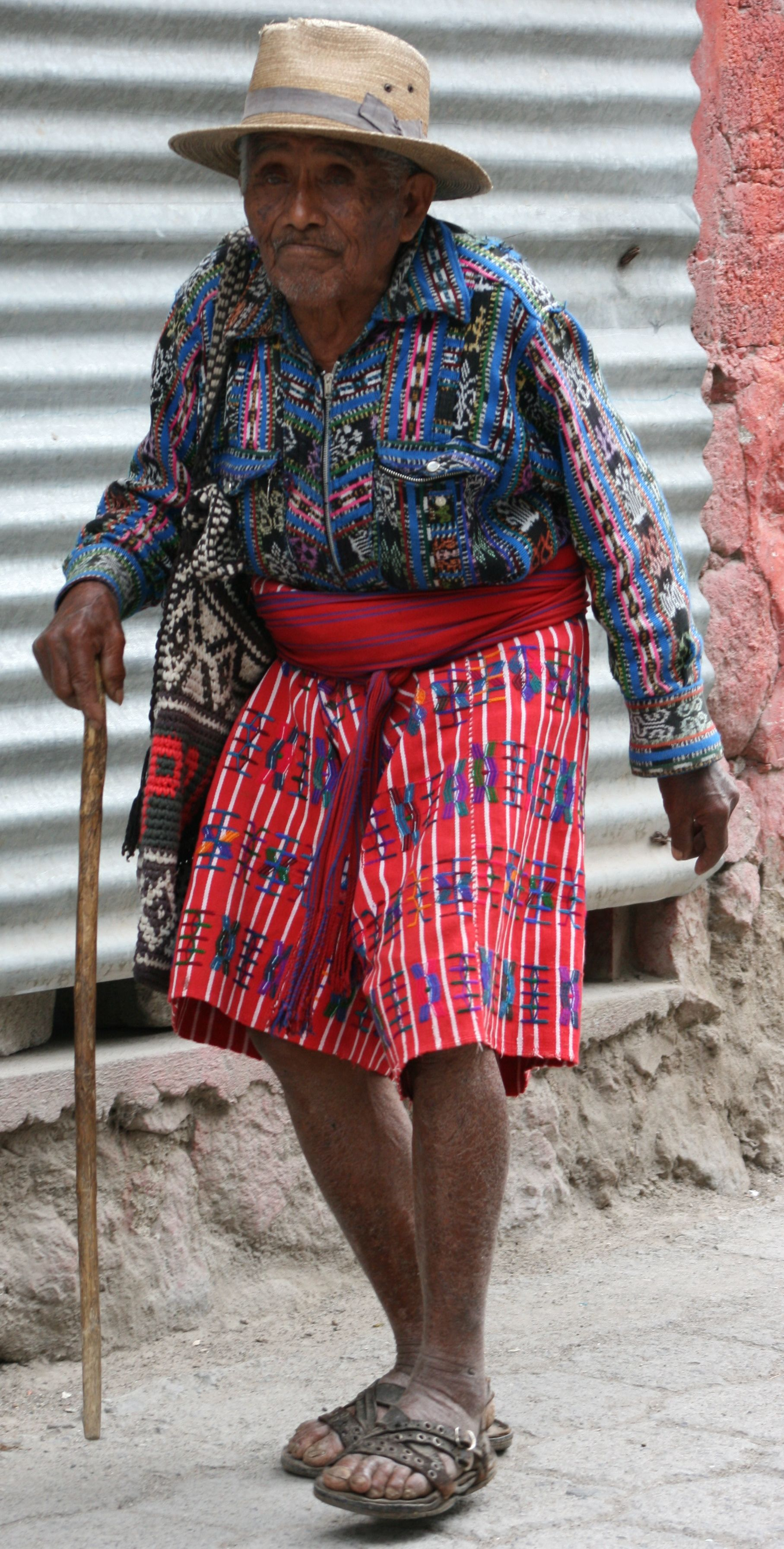 Wise old man wearing traditional Mayan outfit in the highlands in #Guatemala. #Solola