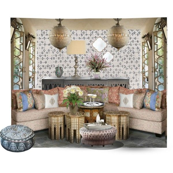 Arabian Interior Design Contest By Turquoisista On Polyvore Featuring Interior Interiors Interior Design