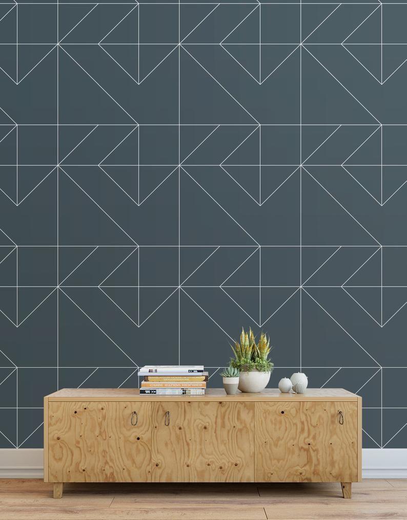Funky Geo Peel And Stick Wallpaper Tiles Modern Wallpaper Etsy Wallpaper And Tiles Wallpaper Panels Modern Wallpaper