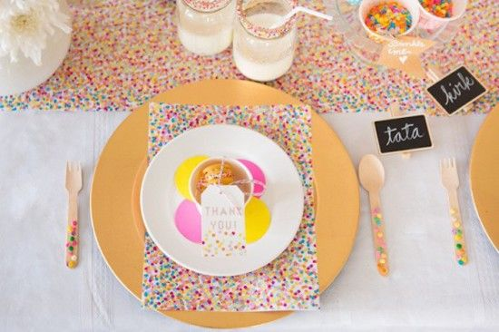 Confetti U0026 Sprinkles Baby Shower Table Setting For Guests, Thank You Gift