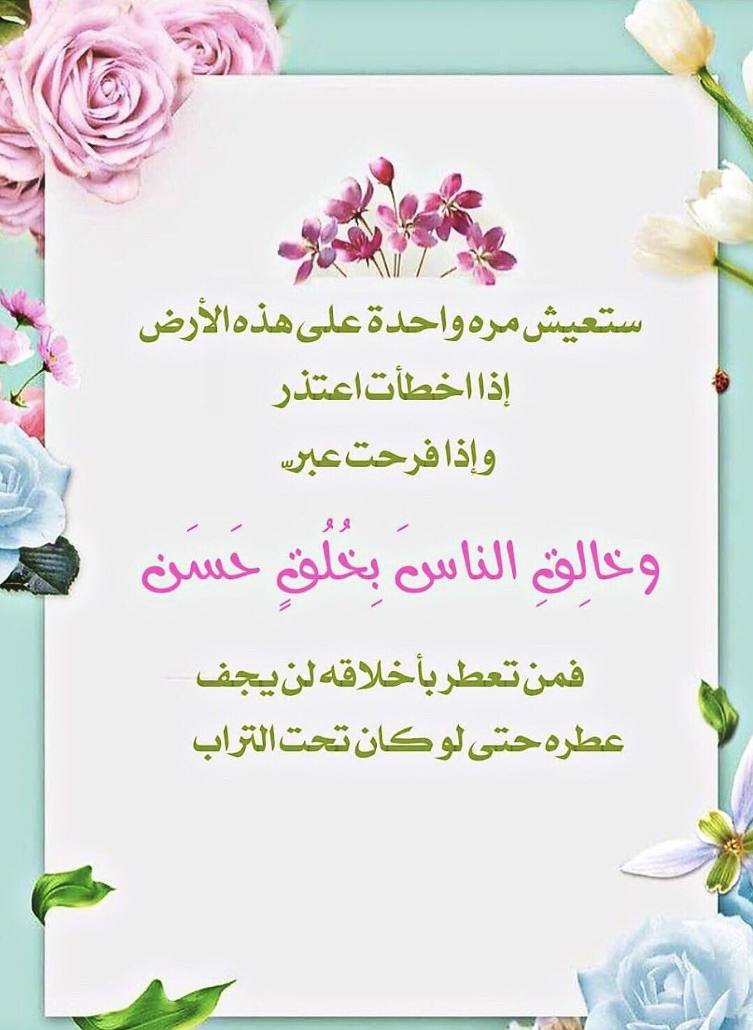 Pin By ادم On حكم وعبر Place Card Holders Arabic Quotes Words