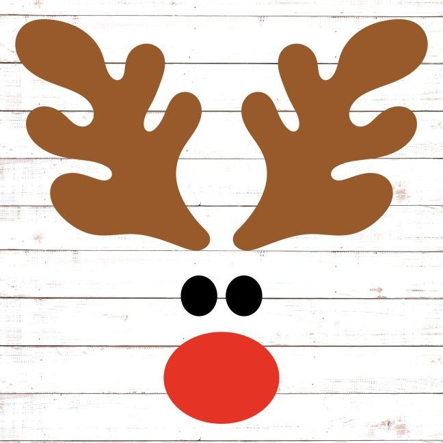 Download Reindeer Face | Christmas svg files free, Christmas svg ...